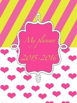 Candy stripes Teacher Planner 2015-2016