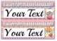 EDITABLE! Candy themed Desk Nameplates with cursive and print alphabet strips!