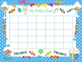 Candy themed Health Potty Chart preschool printable.