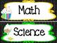 Candy themed Printable Black Polka Dot Classroom Subject S