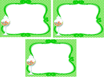 Candy themed Printable Blank Label Cards. Class Accessories.