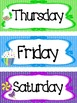 Candy themed Printable Days of the Week Classroom Bulletin
