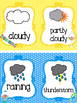 Candy themed  Weather Clip Chart. Preschool-KDG. Class Accessories.