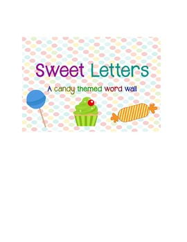 Candy themed word wall set