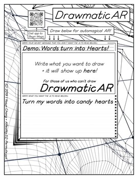 CandyHearts VDay Worksheets Pack for DrawmaticAR
