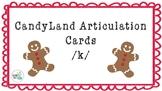CandyLand Articulation Cards /k/ Words