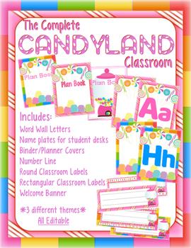 CandyLand Classroom *EDITABLE*