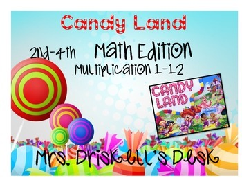 CandyLand Math Edition : Mutiplication Quick Responce