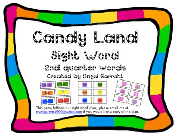 CandyLand Sight Word Game (2nd Quarter Sight Words)