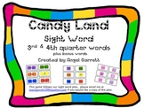 CandyLand Sight Word Game (3rd/4th Quarter Sight Words)