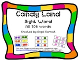 CandyLand Sight Word Game - All 4 Quarters of Sight Words-