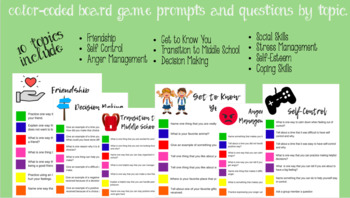 Board Game Counseling Prompts and Questions by Topic
