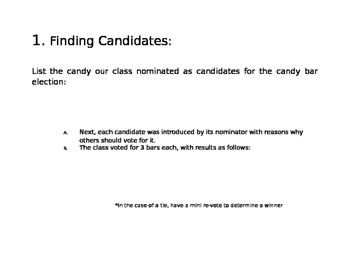 Candybar Election Project/Lesson