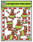Candycane Reindeer {P4 Clips Trioriginals Digital Clip Art}