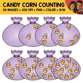 Candycorn Counting Scene Clipart