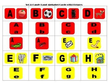 Candyland Alphabet Cards