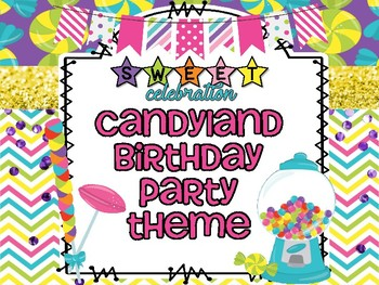 Candyland Birthday Party Theme