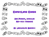 Candyland Cards-- 3rd Person Singular Pronouns/Verbs- NO TEXT