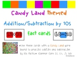 Candyland Cards - Adding and Subtracting Multiples of 10 (Common Core Aligned)