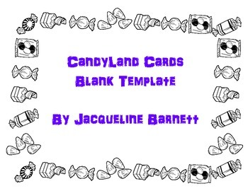 Candyland Cards Template (Blanks!)