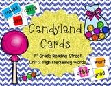 Candyland Cards - Unit 2 Sight Words (1st Grade Reading Street)