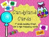 Candyland Cards - Unit 3 Sight Words (1st Grade Reading Street)