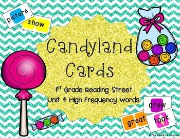 Candyland Cards - Unit 4 Sight Words (1st Grade Reading Street)