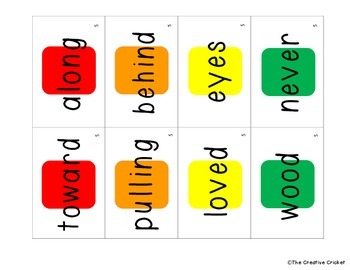Candyland Cards - Unit 5 Sight Words (1st Grade Reading Street)