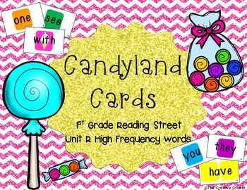 Candyland Cards - Unit R Sight Words (1st Grade Reading Street)