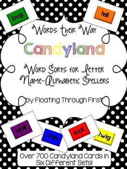 Candyland Cards for Words Their Way--Alphabetic Spellers