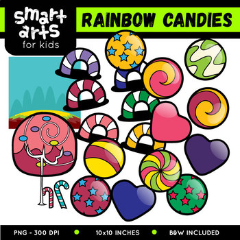 Rainbow Candies Clip Art