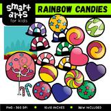 Math Rainbow Candies Clip Art