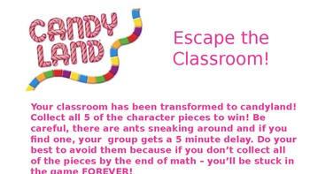 Candyland Escape Room - Place Value Practice