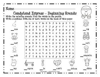Candyland Express - Beginning Sounds