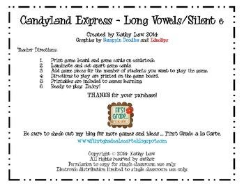 Candyland Express - Long Vowels/Silent e