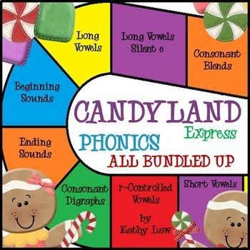 Candyland Express - Phonics Games All Bundled Up!