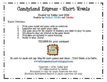 Candyland Express - Short Vowels