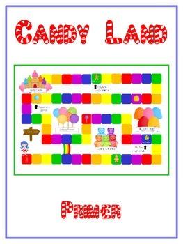 Candyland Sight Word Folder Game - Dolch Word - Primer