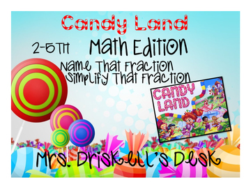 Candyland Math Edition- Fractions