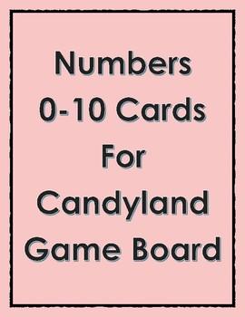 Candyland Number Identification 0-10