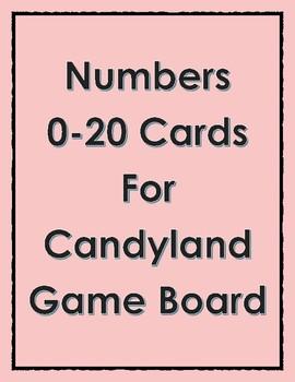 Candyland Number Identification 0-20