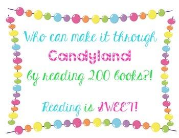 Candyland Reading Bulletin Board Display