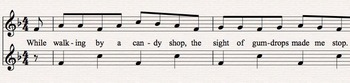 Candyland Rhythms & Melody