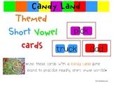 Candyland: Short Vowel Word Cards