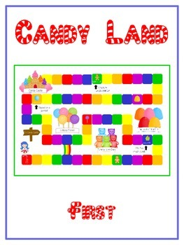 Candyland Sight Word Folder Game - Dolch Word -First Grade