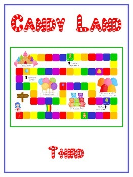 Candyland Sight Word Folder Game - Dolch Word - Third Grade