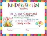 Candyland Theme Kindergarten Diploma