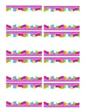 Candyland Themed Labels Name Tags Nametags Stickers Mailbo