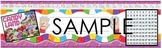 Candyland Themed Name Tag Desk Plate Hundreds Chart