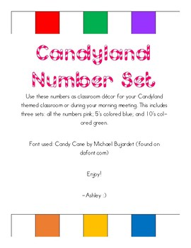 Candyland Themed Number Set